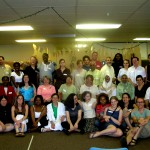 The international group of participants at Grassroots Peacebuilding in Action and Dialogue