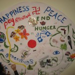 Mural created at the GTA Peacebuilding Show and Tell Symposium