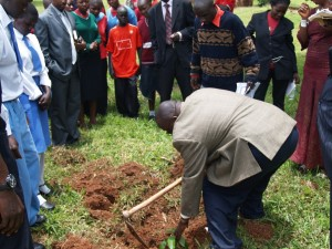 Planting of Peace trees at the end of Uganda's local event